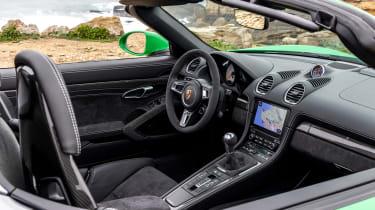 Porsche 718 Boxster convertible dashboard