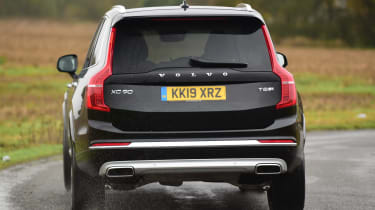 Volvo XC90 SUV rear cornering