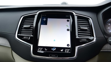 Volvo XC90 SUV infotainment display