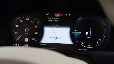 Volvo XC90 SUV digital instruments